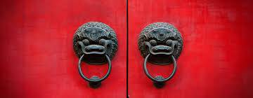 a red Chinese style door